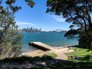 A view of Sydney from Bradley's Head