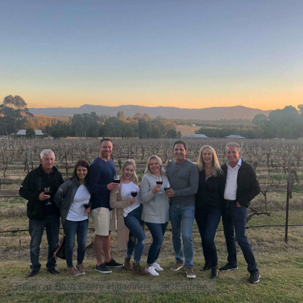 A group at the Hunter Valley near sunset.